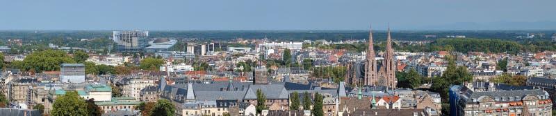 Panorama av Strasbourg, Frankrike arkivfoto