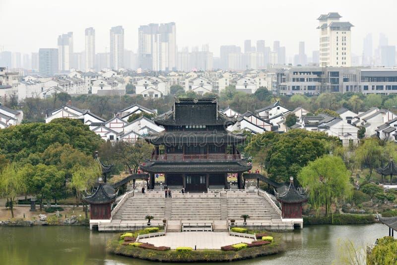 Panorama av Suzhou royaltyfria foton