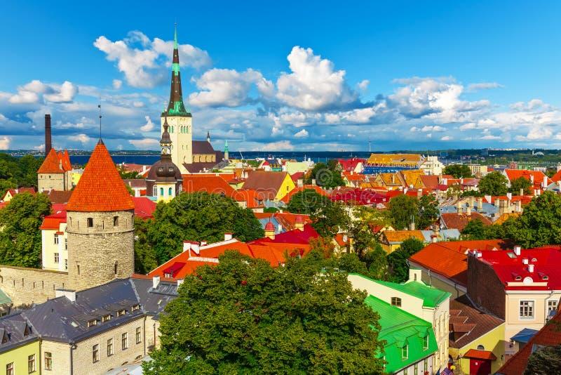 Panorama av Tallinn, Estland royaltyfri bild