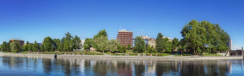 Panorama av Tammerfors arkivbild