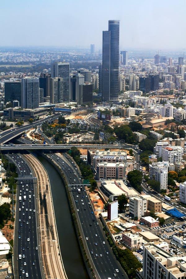 Panorama av Tel Aviv, Israel royaltyfria foton