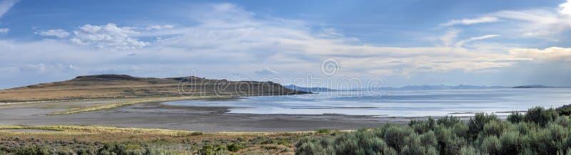 Panorama av White Rock Bay i nationalparken Antelope arkivbilder