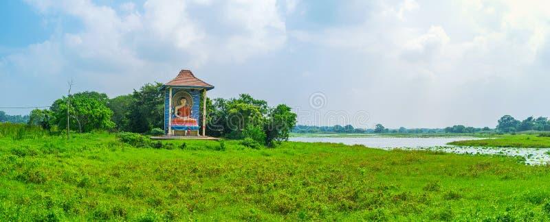 Panorama avec le tombeau de Bouddha photos libres de droits