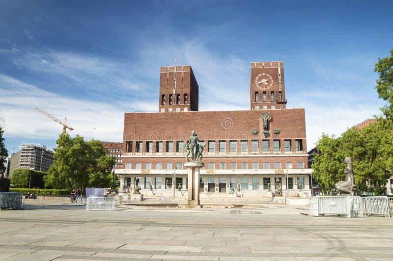 Panorama ayuntamiento, Oslo imágenes de archivo libres de regalías