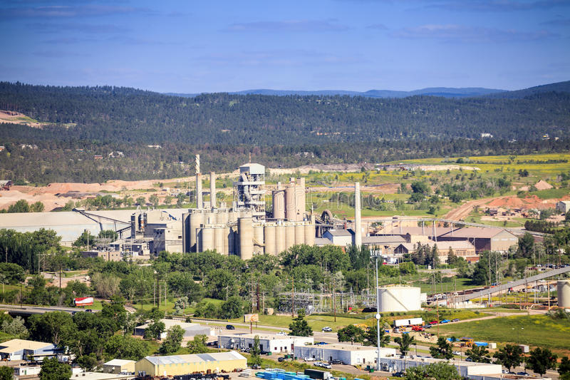 Panorama Błyskawiczny miasto, Południowy Dakota zdjęcie royalty free