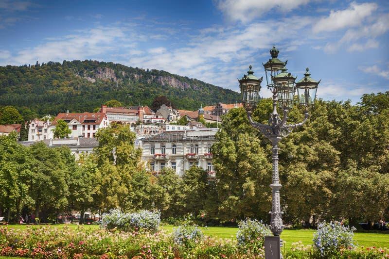Panorama of Baden Baden. Summer landscape in Baden Baden royalty free stock photos