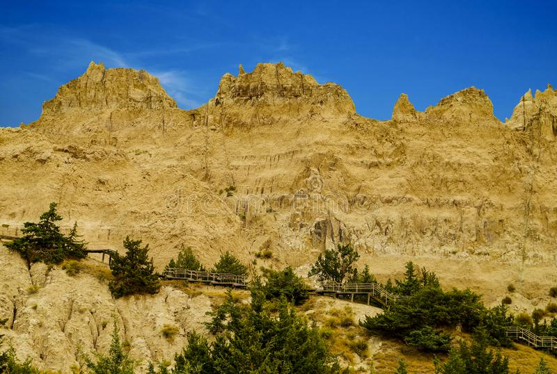 Panorama Badlands National Park, South Dakota, USA royalty free stock photo