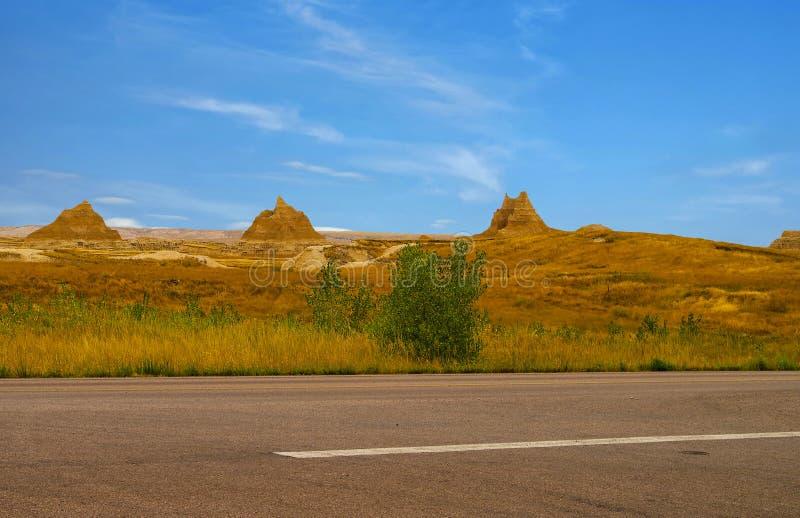 Panorama Badlands National Park, South Dakota, USA stock photography