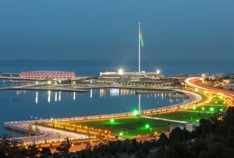 Panorama Bakou photo stock