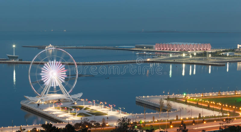 Panorama Baku stockbilder