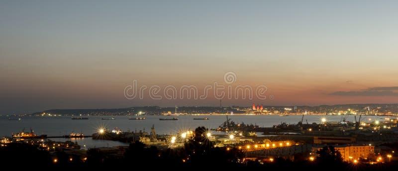 Panorama Baku imagem de stock royalty free