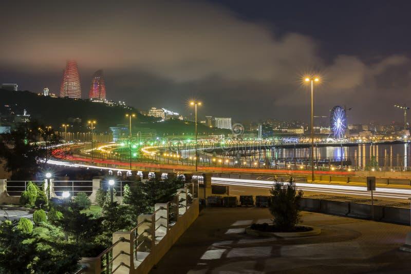 Panorama Baku imagem de stock