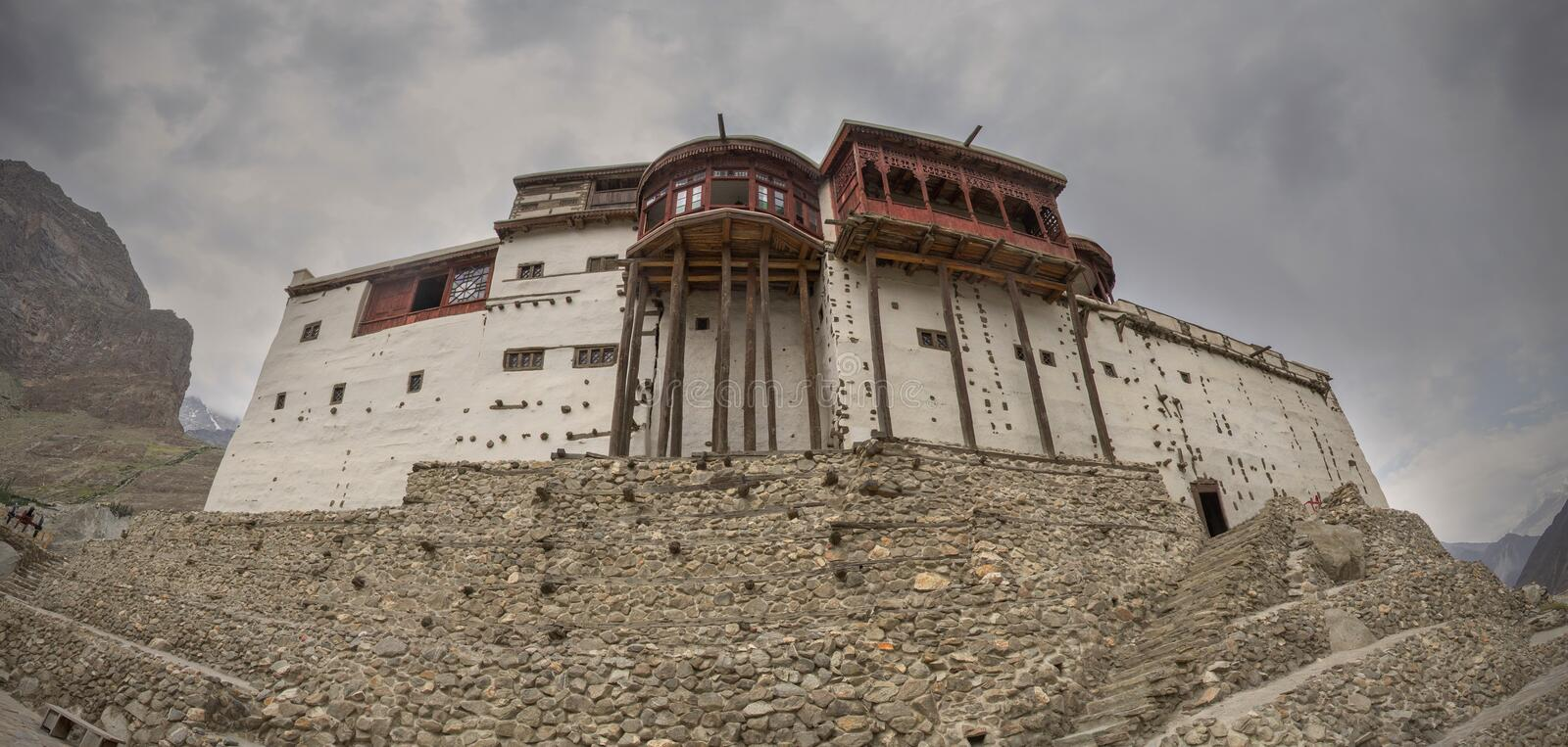 The panorama of Baltit fort royalty free stock photography