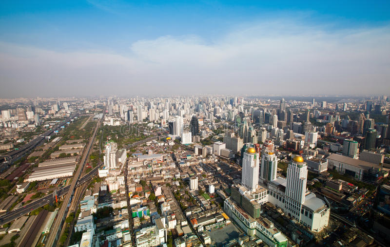 Panorama Of Bangkok Royalty Free Stock Photography
