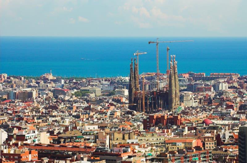 Panorama in Barcelona, royalty-vrije stock fotografie