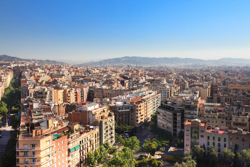 Download Panorama of Barcelona stock photo. Image of architecture - 21579238