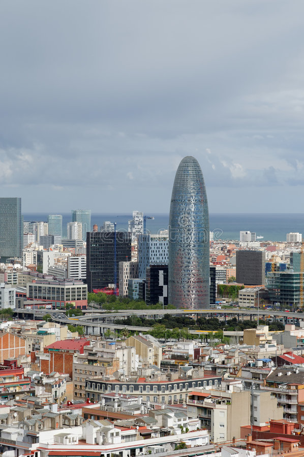 Panorama of Barcelona royalty free stock images