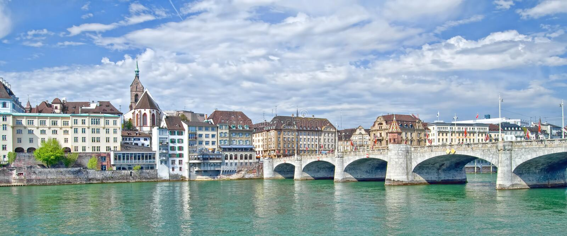 Panorama of Basel royalty free stock photos