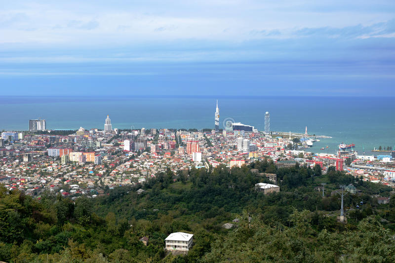 Panorama of Batumi stock photo