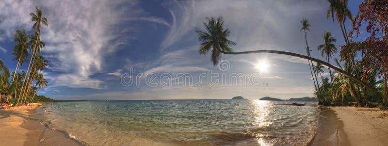 Panorama of beach of Koh Mak stock photo