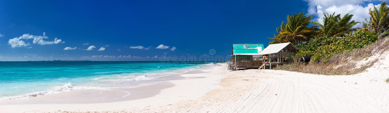 Beautiful Caribbean beach at Anguilla stock images