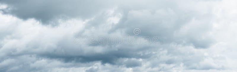 Panorama of beautiful clouds. Rainy clouds over horizon. royalty free stock photo