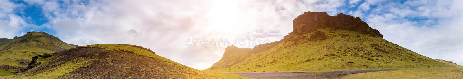 Panorama Beautiful landscape of  Iceland, Summertime royalty free stock images