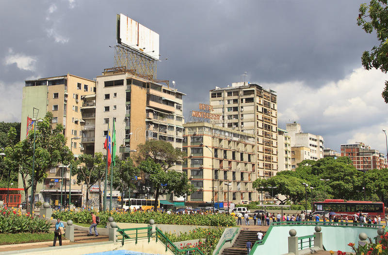 Panorama bei Altamira CARACAS, VENEZUELA lizenzfreies stockfoto