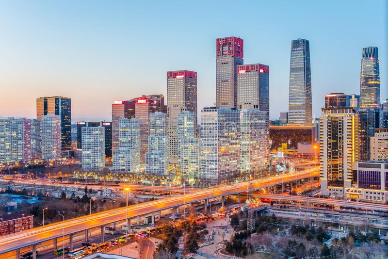 Panorama of beijing city royalty free stock images