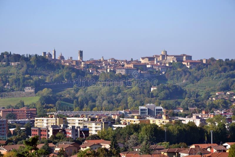 Panorama of bergamo upper city citta alta italy for B b bergamo alta