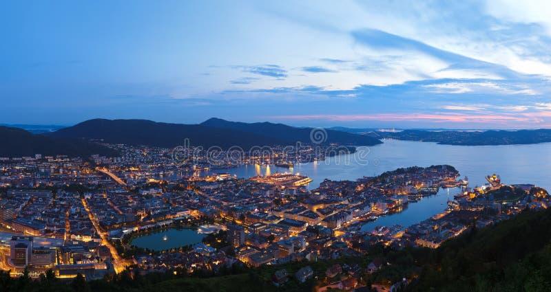 Panorama Bergen Norwegia fotografia royalty free