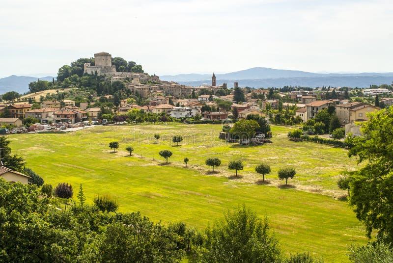 Sarteano (Tuscany) arkivfoton