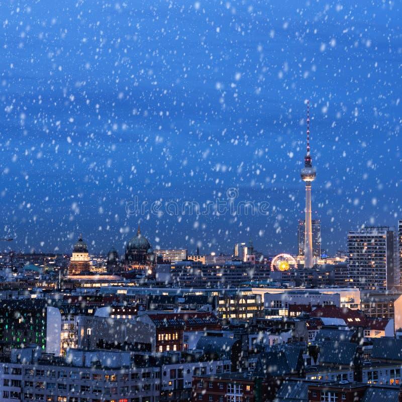Berlin i vinter royaltyfri bild