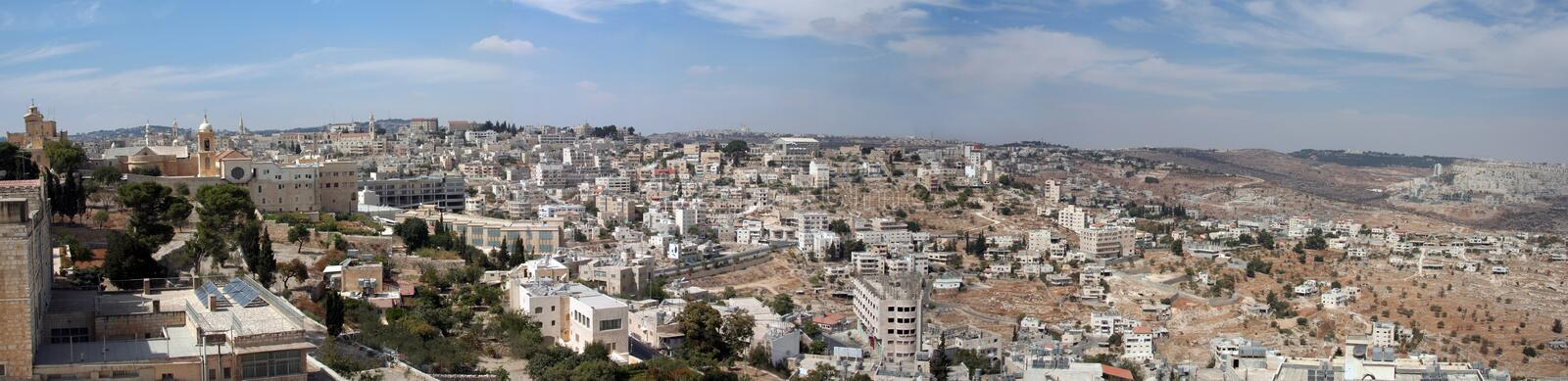 Panorama of Bethlehem royalty free stock photography