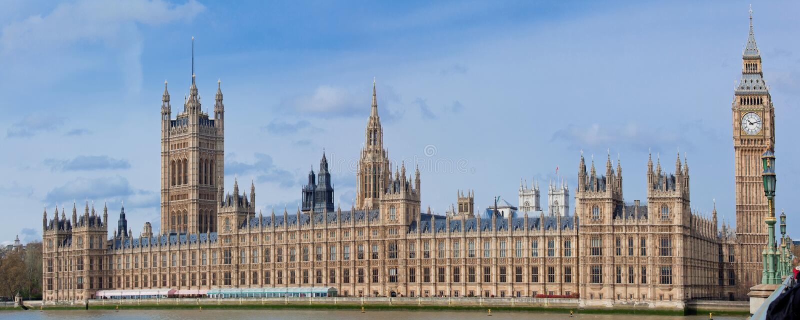 Panorama of Big Ben London stock photo