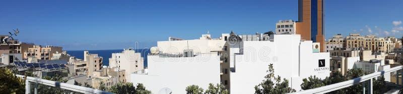 Panorama- bild av Malta arkivbild