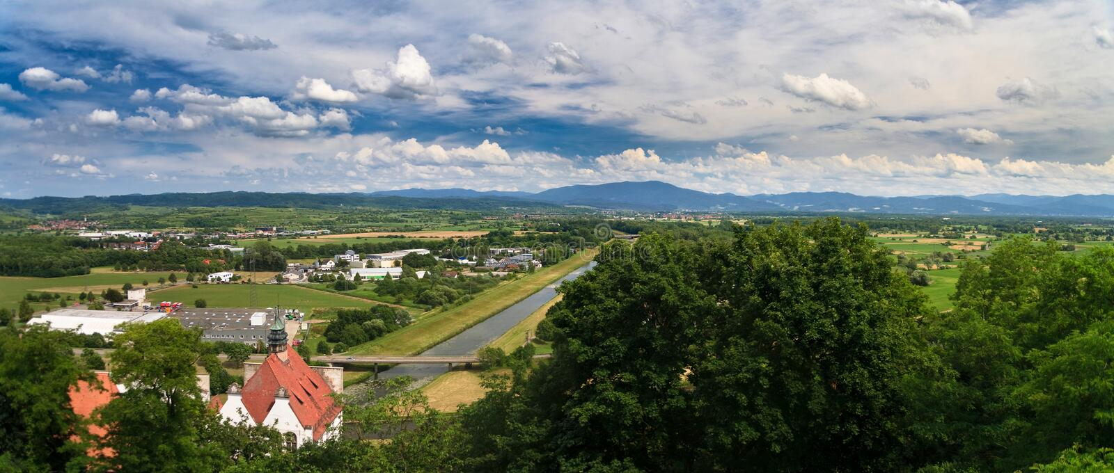 Download Panorama of black forrest stock photo. Image of kaiserstuhl - 10060198