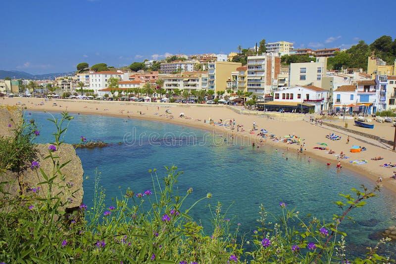 Panorama of Blanes, Spain stock photos