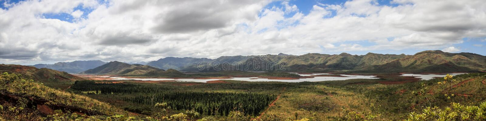 Panorama of the blue river provincial park, south of Grande Terre, New Caledonia. Grande Terre is the largest and principal island of New Caledonia. British royalty free stock images