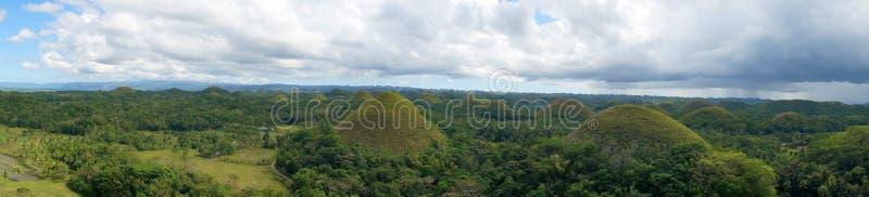 Panorama of Bohol Chocolate Hills royalty free stock photo