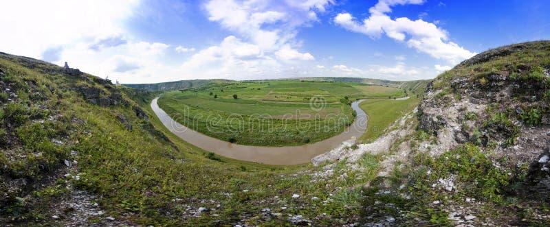 Panorama bonito da paisagem moldavian foto de stock