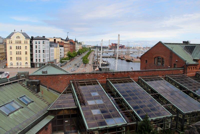 Panorama bonito de Helsínquia, Finlandia fotografia de stock