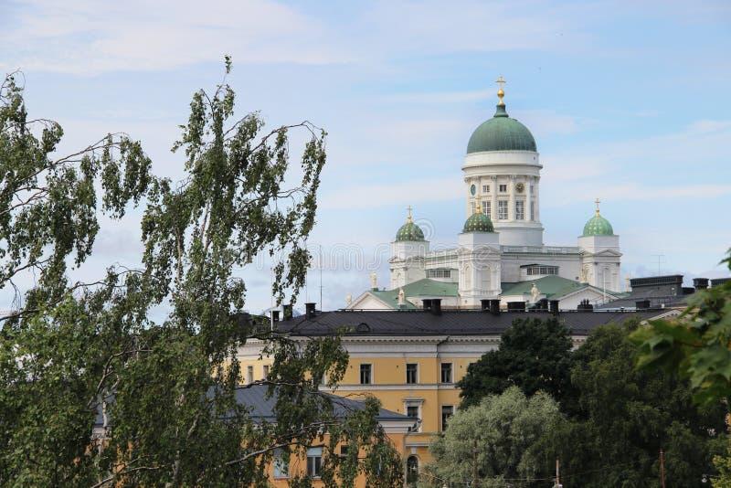 Panorama bonito de Helsínquia, Finlandia imagens de stock