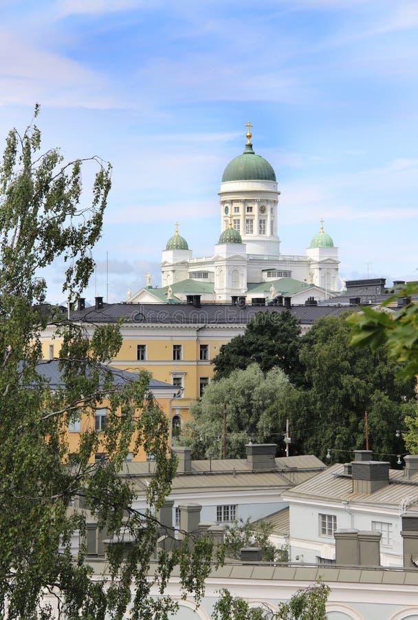 Panorama bonito de Helsínquia, Finlandia fotos de stock royalty free