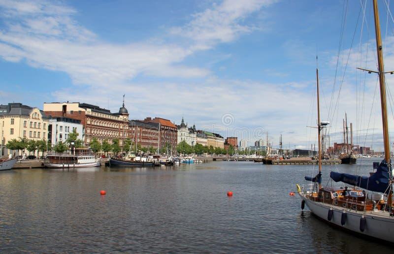 Panorama bonito de Helsínquia, Finlandia fotos de stock
