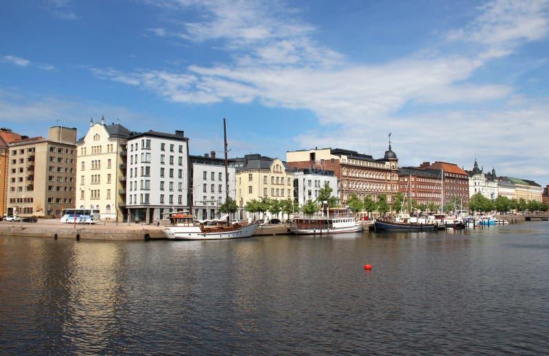 Panorama bonito de Helsínquia, Finlandia foto de stock