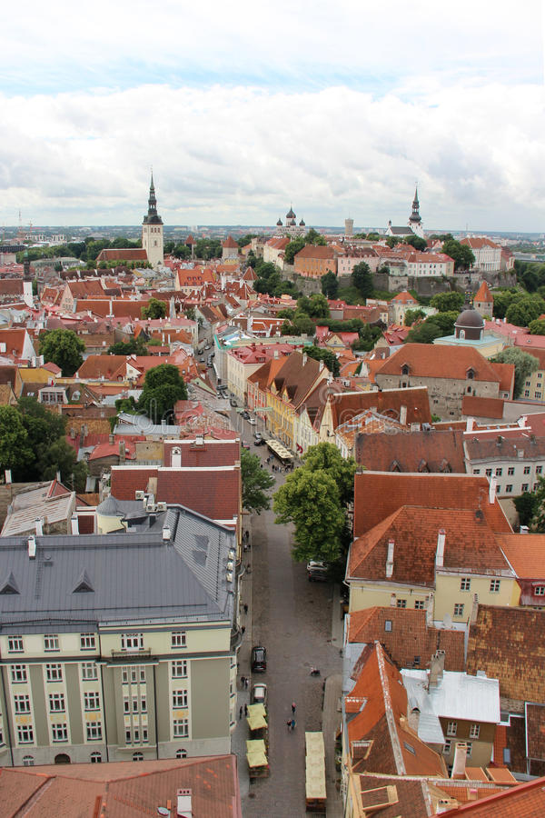 Panorama bonito de Tallin, Estônia fotografia de stock