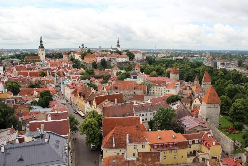 Panorama bonito de Tallin, Estônia fotos de stock