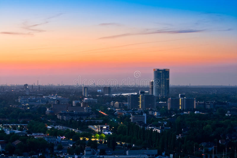 Download Panorama Of Bonn After Sunset Royalty Free Stock Photography - Image: 10864207