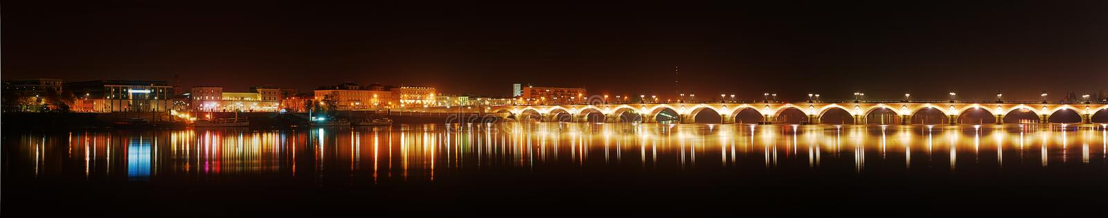 Download Panorama Of Bordeaux Pierre Bridge Stock Photo - Image: 26541810